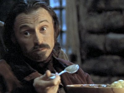 my Bobby eats something (or someone - in this movie he's a cannibal :D )
