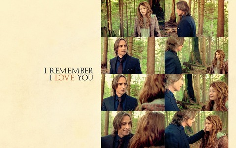 "my Bobby and Emilie in the beaking curse-scene from Once Upon A Time: ""I remember: I Любовь you."" So much touching! ♥"