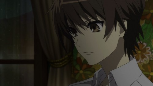 kouichi sakakibara from another.....his mother died...(i think....i don't actually remember..)