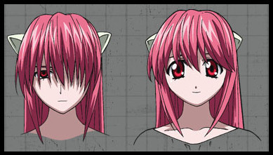 I've never watched Elfen Lied, but I hear the main character has a nice, sweet side (Nyu) and an evil, psychopathic side (Lucy).
