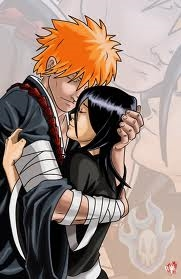 Aren't they so cute together? (Ichigo and Rukia) from Bleach.