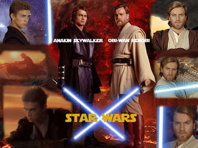 Luke Skywalker Anakin Skywalker Obi-Wan Kenobi  they are the coolest Jedis ever!!!!!!!!!!!!!!!! Here is a pic of Anakin and Obi Wan