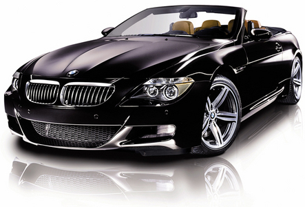 a BMW convertible(in either black,silver atau dark blue)