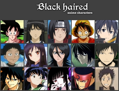 many!!! hikari honozano from special A jun from rozen maiden misaki ayuzawa from kaichou wa maid sama misaki mei from another kagome from inuyasha luffy from one peice sasuke uchiha from naruto vegeta from DBZ ash from pokemon ling yao from full metal alchemist:brotherhood l from death note sebastian from black butler death the kid from soul eater kikyo from inuyasha nico from one peice roy mabangis na kabayo from fma gen.hughes from fma lust from fma wrath from fma lelouch from code geass all i can remember of right now.........