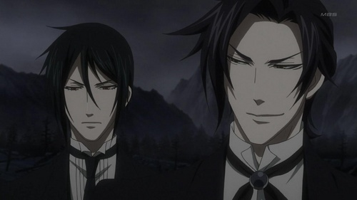 Sebastian Michaelis and Claude Faustus preparing for their duel with each other