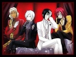 Left to right: Agni, Ash, Sebastian, Grell