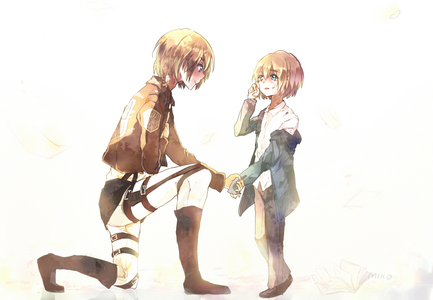 "My inayopendelewa character is Armin. First things first, I appreciate how he isn't the typical ""shy"" / ""insecure"" anime character who can barely form two words, when asked a question. Armin has had his moments where he was down, but he always comes back around, in the end. Not only is he kindhearted, but also has a very strong heart, and I admire that. I like his bravery, as well, his reliability, and his calculative ability. Overall, I find him to be an amazing character. =)"