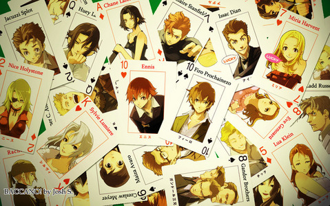 All the immortals from Baccano! When they die they just come back to life.