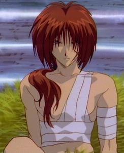 Kenshin Himura from Ruroni Kenshin. He's blind only for 5 episodes (70-75) but stil (: