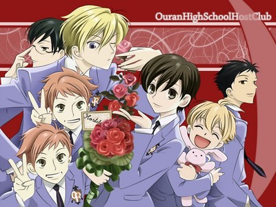 The tuktok 10 anime I recommend you to watch: 1. Ouran Highschool Host Club (pic) 2. Katekyo Hitman Reborn! 3. One Piece 4. Naruto/Shippuden 5. Darker Than Black 6. K Project 7. Mahou Shojou Magika Madoka 8. Ghost Hunt 9. Dangan Ronpa 10. Angel Beats!