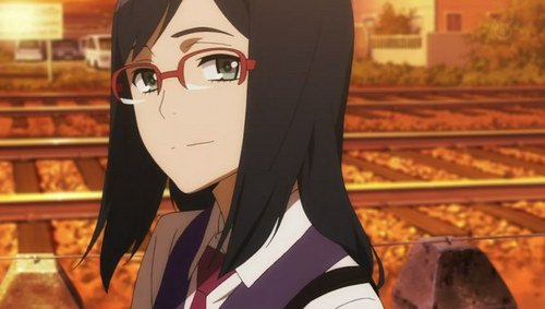I look like Chiriko from Anohana! We have similar hair length and we both wear glasses,our bangs are the same,too. Except I have brown hair and eyes.