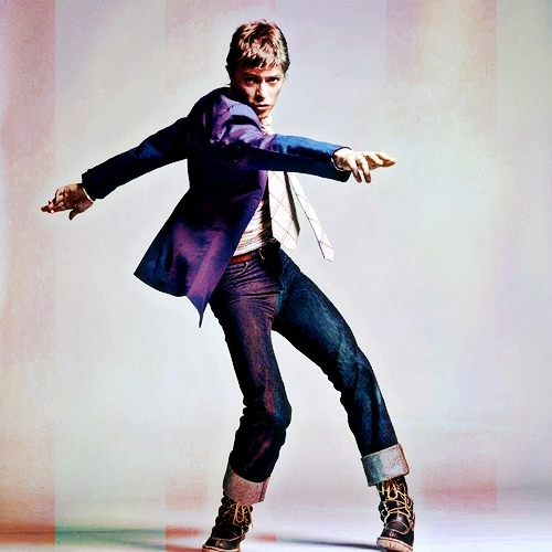 dancing is sports, right? xD so Bowie dancing in a cool outfit