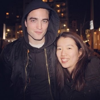 my yummy Rob with a lucky fan<3