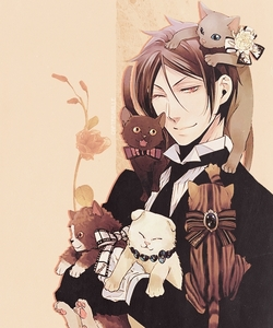 Sebastian and his beloved 고양이 XD