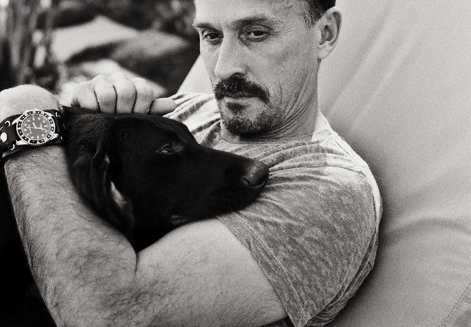Robert Knepper with his dog Joey