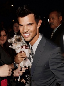 Taylor with a puppy