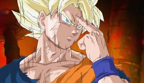 Гоку (Dragonball Z) he is an alien from planet Vageta........Goku belong to Saiyan race..........now he is a super saiyan.......he he he