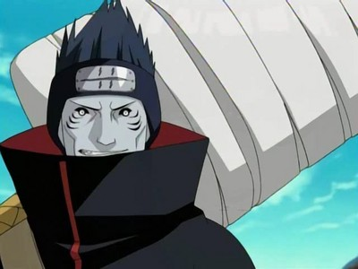 Kisame from naruto has dark blue hair.