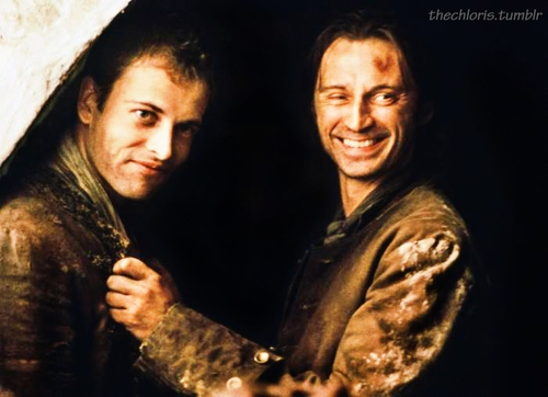 """my Bobby with """"Sherlock"""" Johnny Lee Miller :D :D"""