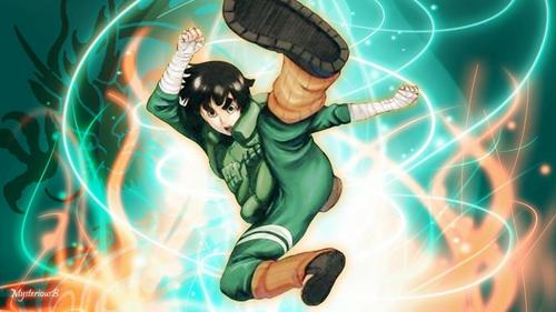Rock Lee (Naruto Shippuden) he always reminds me of Bruce Lee.......he he he