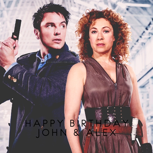 Happy Birthday John and Alex Kingston<3