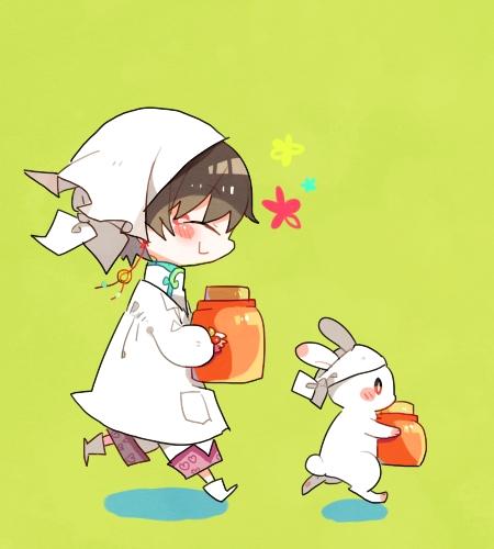 I'm pretty sure that thing Hakutaku (and the bunny here too lol) wears counts as a bandana C: