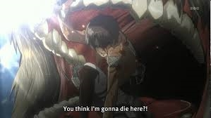 SPOILER* (this whole vraag is a spoiler, but whatever) Eren from Attack on Titan dies, but comes back.