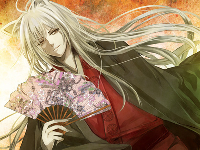 Kamisama Kiss' Tomoe partially in red