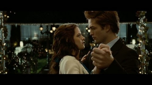my handsome babe holding hands with Kristen in the Twilight prom scene<3