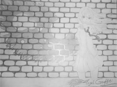 앤젤 Graffiti I drew it from a pic and named it myself. I just 사랑 drawing anime. Someday, I wanna land up a career in the 아니메 industry.