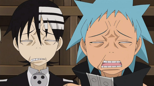 Black bituin and Death the Kid XD (Soul Eater)