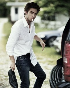 My gorgeous Rob-Patz holding a shoe ;)
