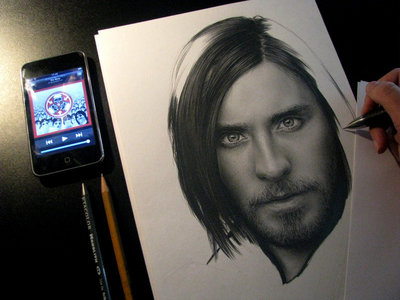 an art drawing of Jared<3