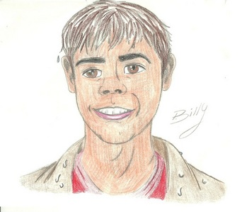 My sketch of Matthew as a cartoon from The Hot Chick :)