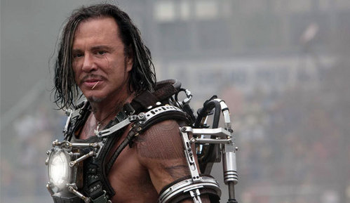 the wonderful Mickey Rourke as I see he is very disliked and underrated actor but he could deserve little lebih respect