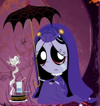 Yes, I think her voice is kind of like a goth voice, but she just doesn't know how to express her emotions. I can easily say that Maud sounds a lot like Misery! (if anda need to know who Misery is, refer to this site: rubygloomtv (dot) com)