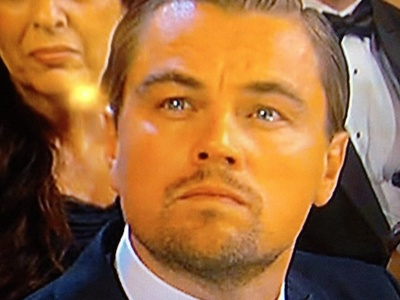 Leonardo DiCaprio because we both didn't get an Oscar this year.