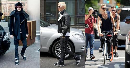 JL wearing cool sneakers<3