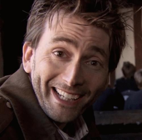 David smiling<3