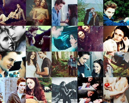a beautiful collage of Edward and Bella,played par my gorgeous Robert and the beautiful Kristen<3
