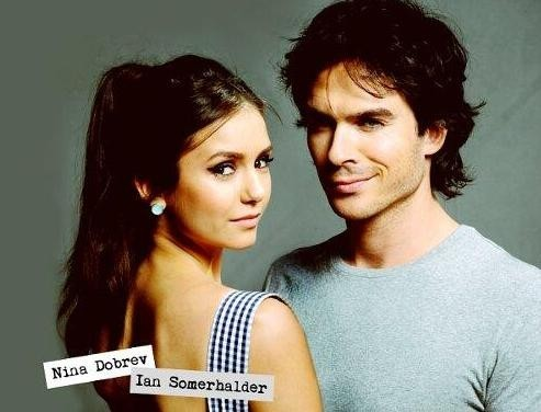 Ian Somerhalder with Nina Dobrev