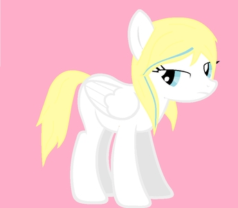 i actually have two main ones,the seconde being her...the first one was Snow Flake but Aura became my new favori Name: Aurora Northwind Age: 16 Race: pegasus Cutiemark: (in my fanfic,her talent is still unknown and in a certain RP is is writing) musique notes,because she loves chant Birth Home: Ponyville (because her mom is a unicorn) Bio: she was known in Ponyville as a quiet mare who always sits in the corner,a loner,invisible...but after meeting another pony;a stallion who was bullied in his old school but never speaks up (in the outside he was cheerful and a joker)they had a lot in common,and they became best friends,because he was cheerful and all (which contrasts her quiet nature),that quality also rubbed off on her,being happy and positive at times but still having her true self after accidentally watching a horror game,she found out plus about herself; having a divisé, split personality,one calm and nice the other being crazy and negative...she sometimes talks/mumbles to herself about...stuff with a weird expression on her face,but she keeps that negative part of her hidden behind that smile,trying to focus on the good side,it also helps that she has trustworthy Friends to keep her on that side Personality/Traits: smart,nice,quiet,loyal,a good listener,more referred as the 'cool' type par other ponies due to her being a lone loup and all,but she's actually quite shy (haha...she's like a poney version of myself in personality,and yeah,that's how i am in real life)