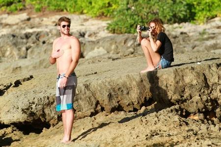 Liam hemsworth at the pantai