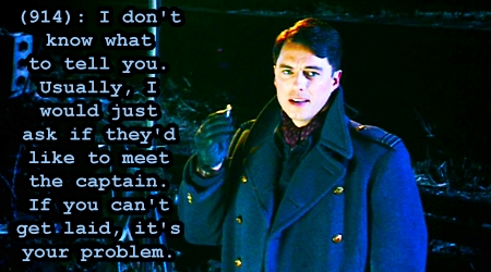Captain Jack Harkness from Doctor Who.