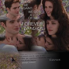 Edward&Bella...and then we continued blissfully into this small but perfect piece of our forever(the last quote from Breaking Dawn book)<3