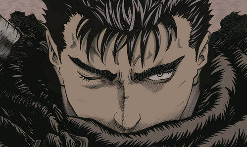 Guts from Berserk is probably the most badass Anime character that I've seen