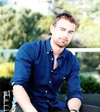 my Divergent hottie,Theo with a blurry background<3