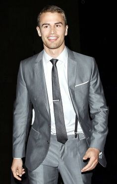 the delicious Theo in grey<3
