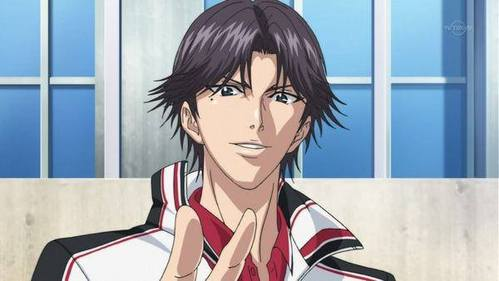 "Keigo Atobe from Prince of Tennis....He always got into the top ten/ five/ three in the ""Most handsome anime character"" category every times....."