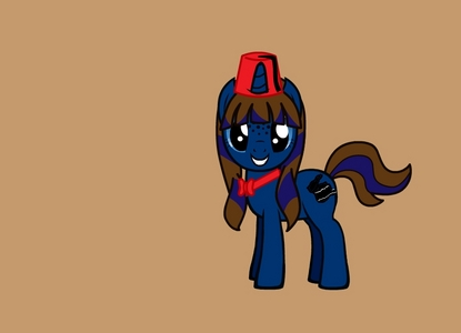 ths is my OC ,her name is Ellie Step . she is a movie director and her cutie mark is a clapper